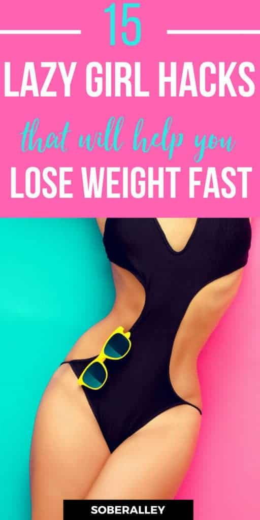 15 Lazy Girl Hacks That Will Help You Lose Weight Fast. Lose 10 pounds in a month! This is an easy way to lose weight quick in a week or lose weight fast in a month. Follow these easy fitness tips and hacks for fast quick weight loss without exercising too much.
