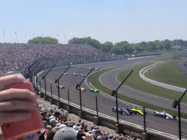 Turn three at the Indianapolis Motor Speedway.