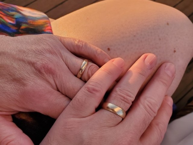 Wedding Rings on an Anniversary Cruise
