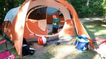 First time camping!