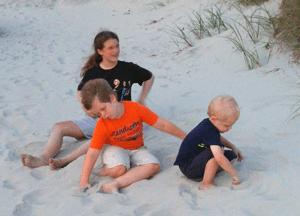 Kiddos at the beach.