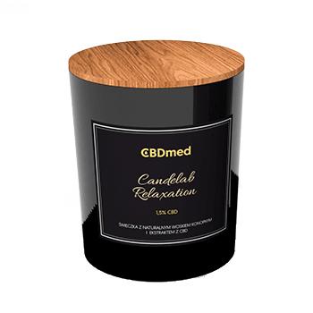CBDMED Świeca konopna CBD 1,5% zapachowa