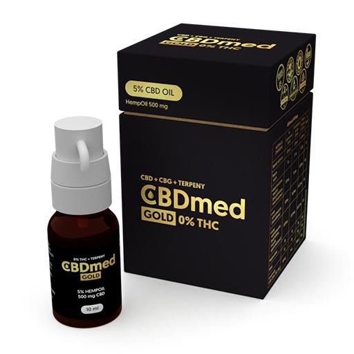 CBDMED Olejek konopny GOLD CBD 5% (500 mg) + Terpeny