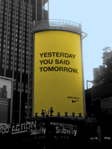 Вчера ты говорил завтра