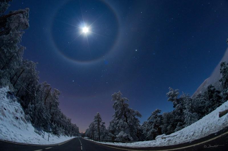 Ночная дорога в полнолуние