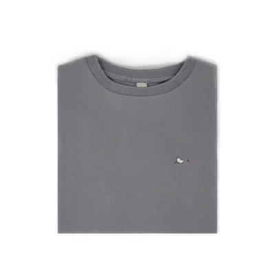 T-shirt homme gris sobo, écoresponsable et made in France. En piqué de coton bio