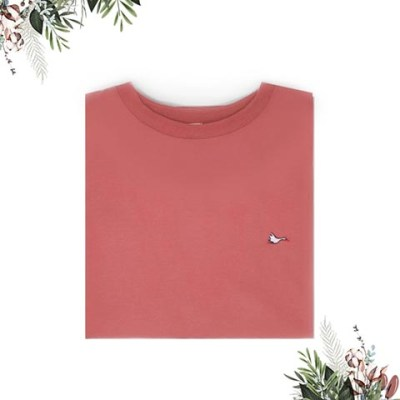 T-shirt femme rose sobo, écoresponsable et made in France. En piqué de coton bio