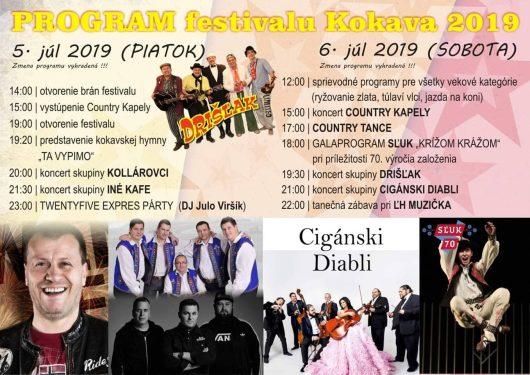 Program festivalu Kokava 2019