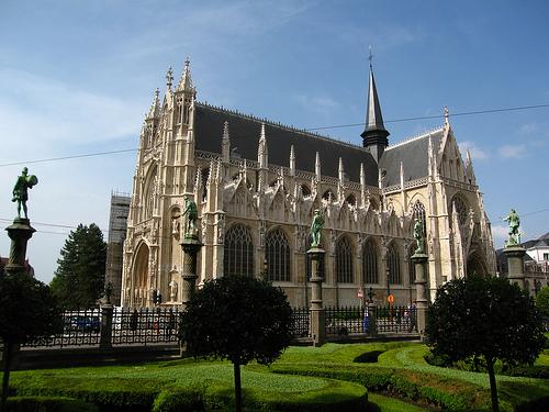 La Iglesia de Notre Dame du Sablon en Bruselas