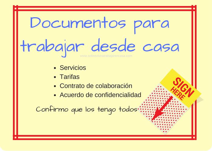 Documentos para trabajar en casa