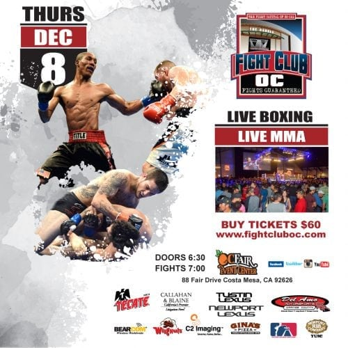 Mega Show Set For Final 2016 Fight Club OC