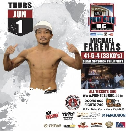Top Contender To Launch Comeback on June 1st Fight Club OC