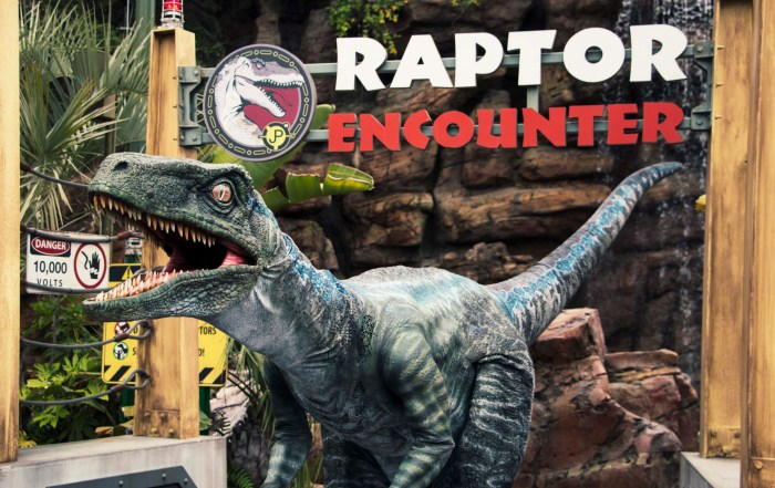 Blue at Raptor Encounter - Universal Studios