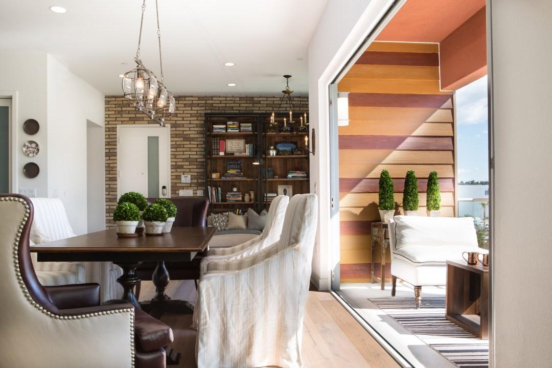 Light hardwood flooring in a modern farmhouse