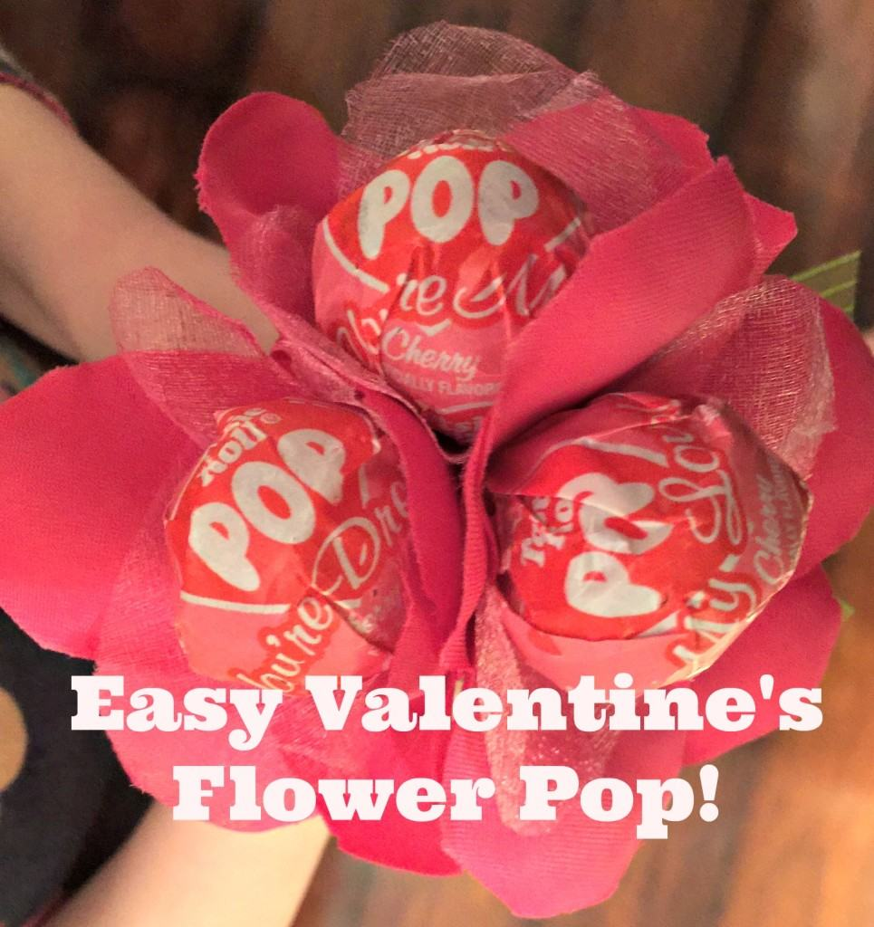 Do you need a last minute Valentine's craft for school? Then check out this 3-step Easy Valentine's Day Flower Pop that is simple for any child to make.