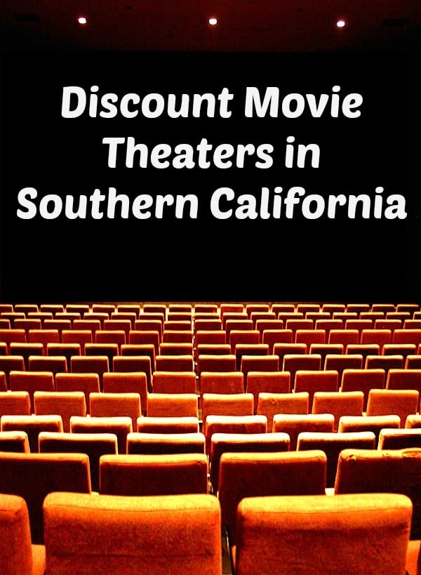 Discount Movie Theaters in Southern California ranging in price from $1 to $3.50 per person.