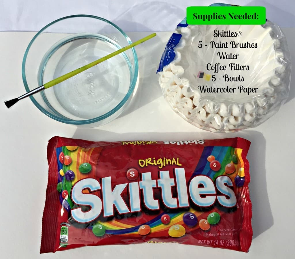 Learn to make Skittles Watercolor Paint with the this step-by-step tutorial with pictures!
