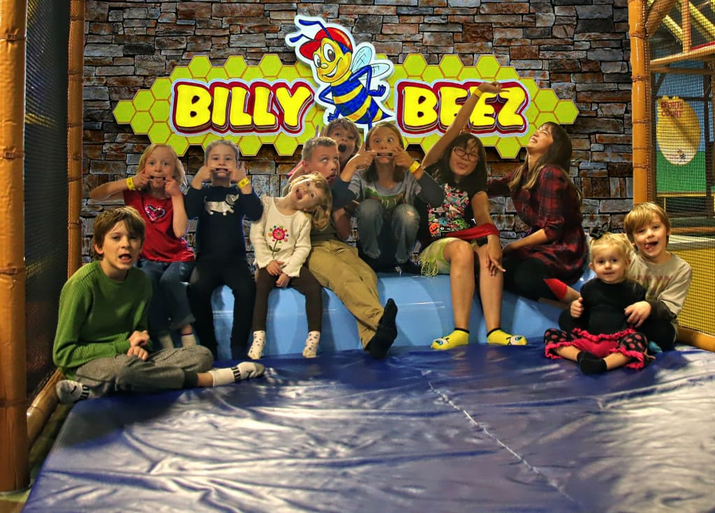 Billy Beeze in Anaheim, California has over 17,000 worth of play area for children to play.