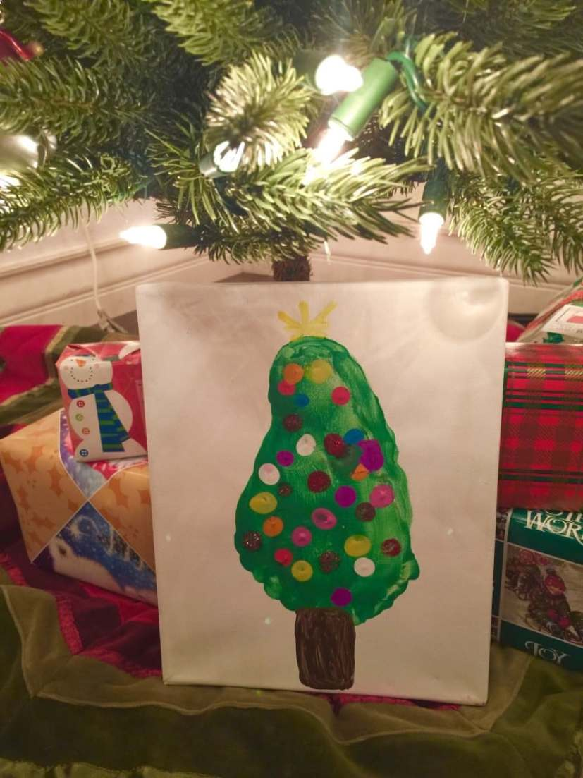 Child's Footprint Christmas Tree Tutorial with Step by Step Instructions with Pictures