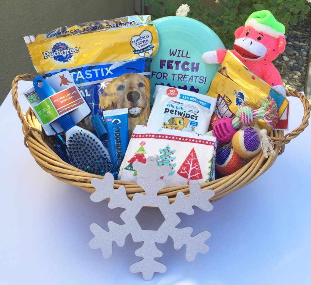 Holiday Dog Grooming Gift Basket Step-by-Step Tutorial with Pictures