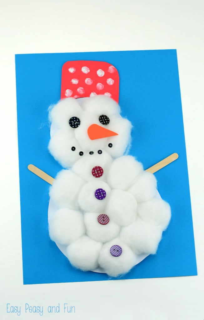 15 Easy Winter Snowman Crafts For Kids SoCal Field Trips