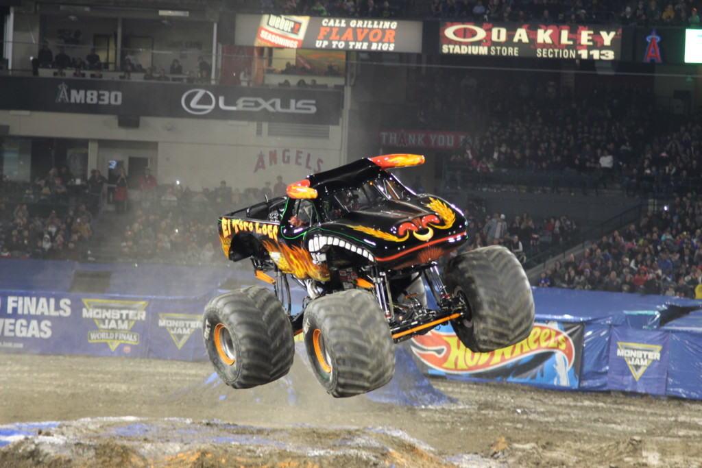 Monster Jam Show Anaheim Stadium