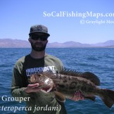 Gulf Grouper taken in the northern Sea of Cortez on a dropper loop herring.