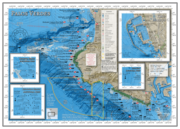Palos Verdes Fishing Map