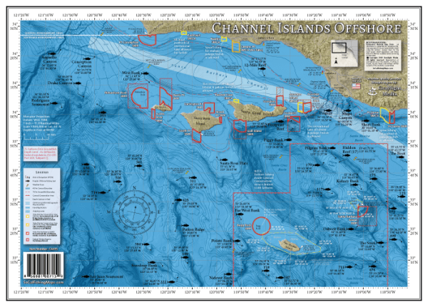 Channel Islands Offshore Fishing Map