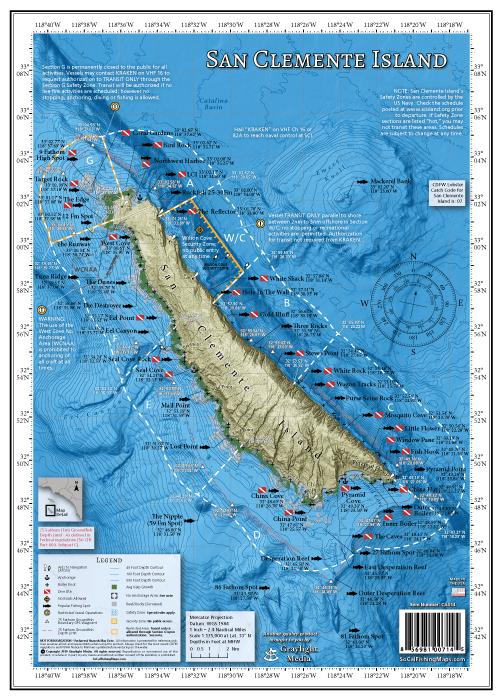 San Clemente Island Fishing Map