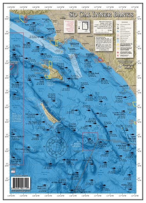 Inner Banks Offshore Fishing Map