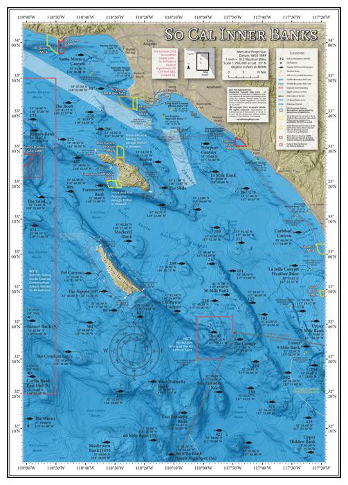 SoCal Inner Banks Offshore Fishing Map