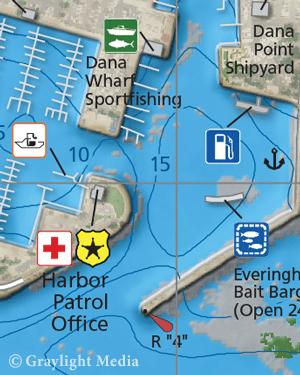 Close-up of Laguna Coast Fishing Map