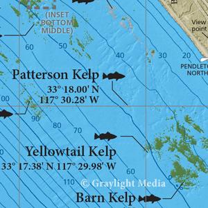 Map of shallow reefs along Camp Pendleton coast