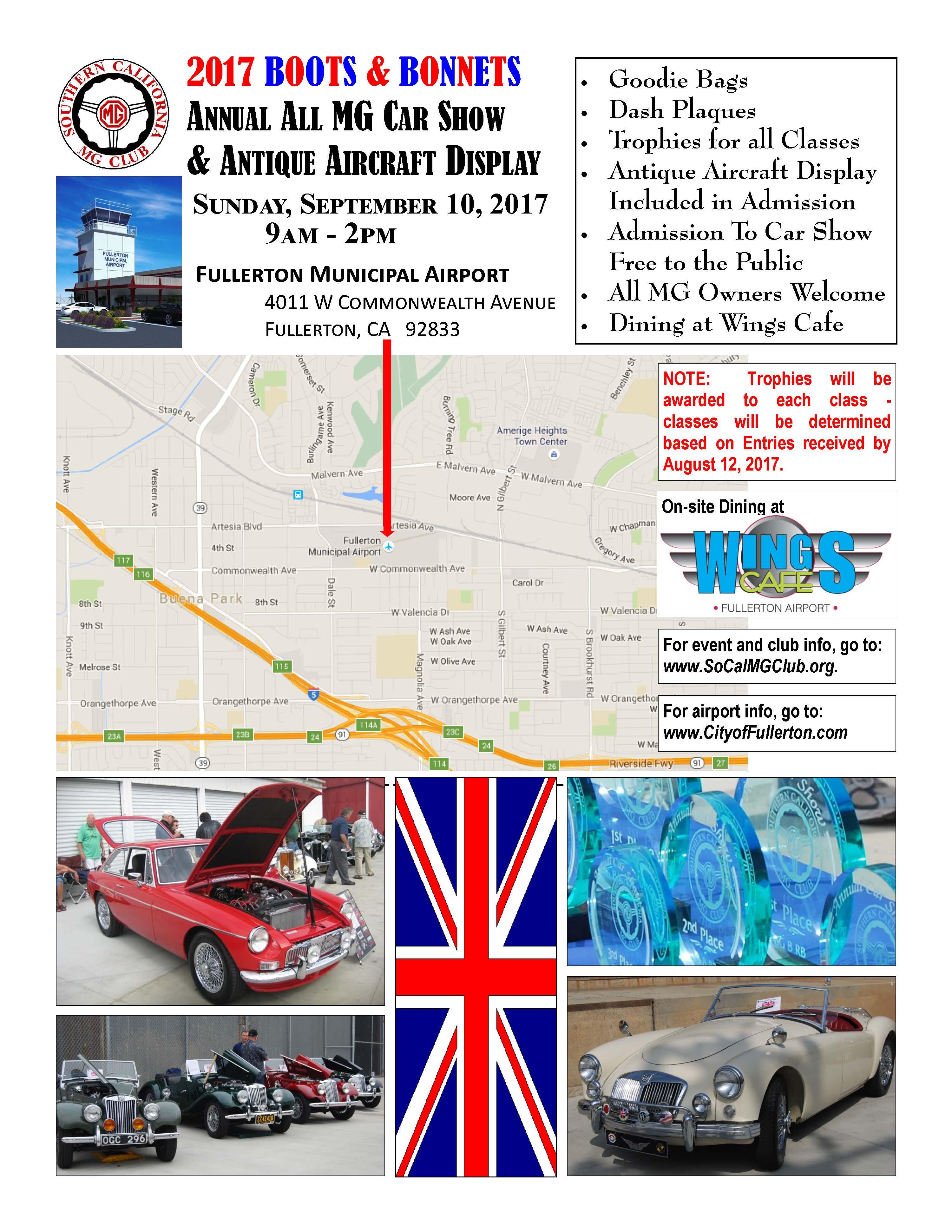 ANNUAL SOUTHERN CALIFORNIA MG CLUB BOOTS BONNETS CAR SHOW - Car show dash plaque display