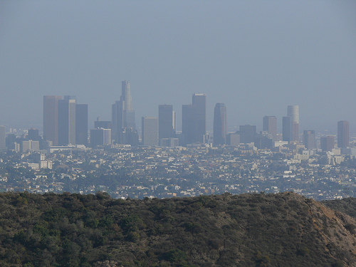 Downtown Los Angeles, from the Hollywood Hills