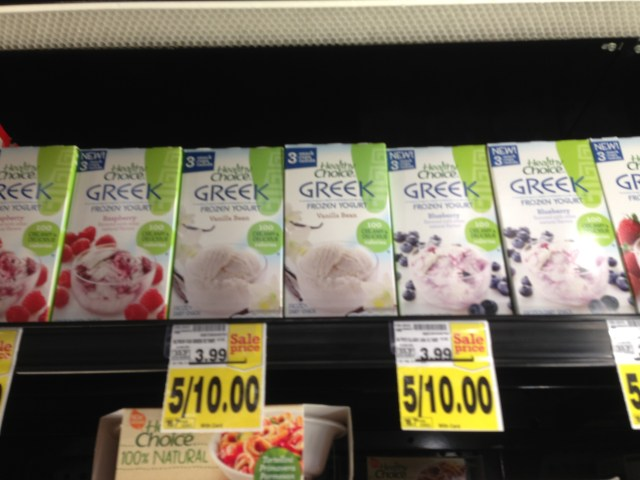 #ad Healthy Choice Greek Frozen Yogurt Flavors