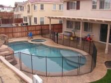 back yard pool fence