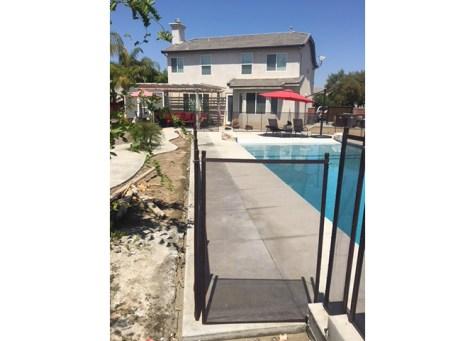 straight pool fence