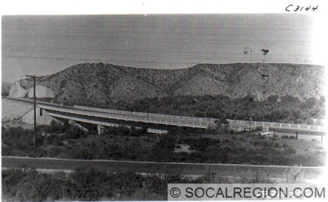 1929 view of the Santa Clara River Bridge.