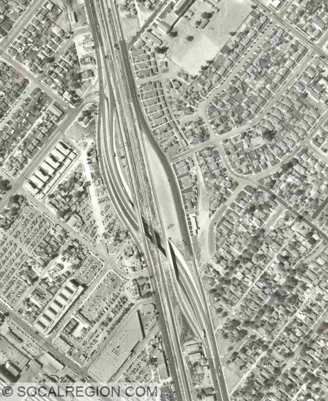 1953 aerial photograph showing the North Burbank OH and surrounding area.