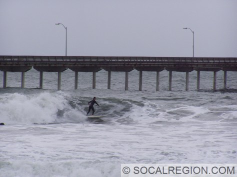 Surfing at OB Pier - January 2006