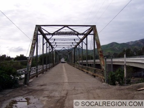 Original Piru Creek Bridge in Piru. It was bypassed in 1940 and replaced in 1985.