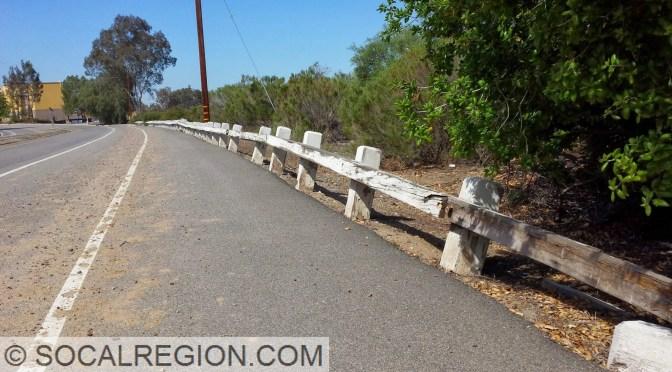 Following old US 91 near Corona