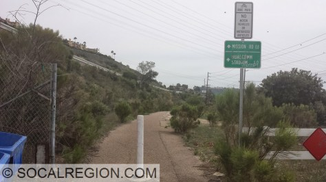 Northern entrance to the Murphy Canyon Trail.