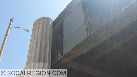 1936 bridge plaque. Visible in the top left side of the steel girder.