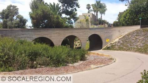 Side view of the Crespo Drive bridge.