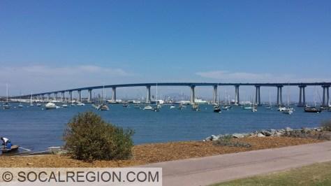 San Diego - Coronado Bay Bridge, from Coronado.