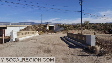 Bridge over Lytle Creek with the realignment in the background.