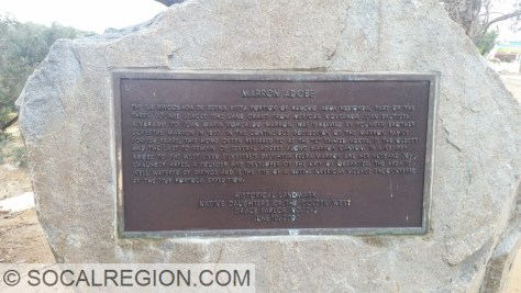 """Marker for the Marron Adobe, as in Marron Road """"fame""""."""